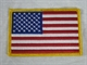 "Picture of American Flag Emblem: 3"" x 3 1/2"""