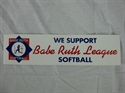 Picture of Babe Ruth Softball Bumper Sticker