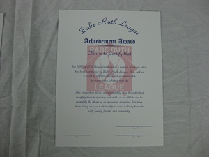 Picture of Achievement Certificate