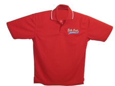 Picture of Babe Ruth Baseball Polo Shirt-Red