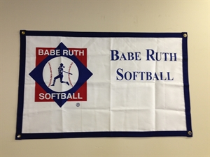 Picture of Babe Ruth Softball Banner-logo and imprint