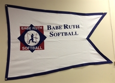 Picture of Babe Ruth Softball Flag-logo and imprint