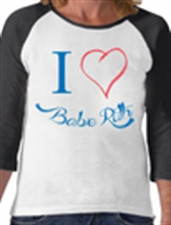 Picture of I Heart Babe Ruth Baseball T-Shirt