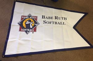 Picture of Softball Flag with logo and imprint