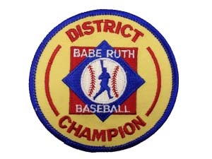 "Picture of District Champion Emblem-Baseball 3 3/8"""