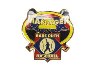 Picture of Babe Ruth Baseball Manager Pin