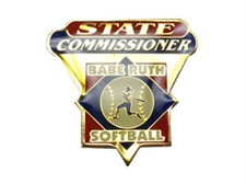 Picture of Babe Ruth Softall State Commissioner Pin