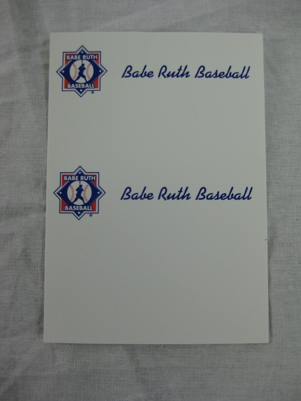 Babe Ruth League Online Store. Babe Ruth Baseball Business Cards