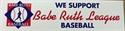 Picture of  Babe Ruth Baseball Bumper Sticker