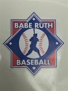 Picture of Babe Ruth Baseball Press on Emblem