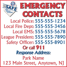 Picture of Emergency Contact Sign
